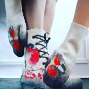 Ботинки женские Теплющие снегирь