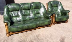 Leather sofas from Europe, new and used, ideally