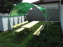 Sale gazebos made of polycarbonate