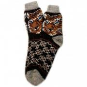 Шерстяные вязанные мужские носки