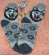 Woolen knitted men's socks